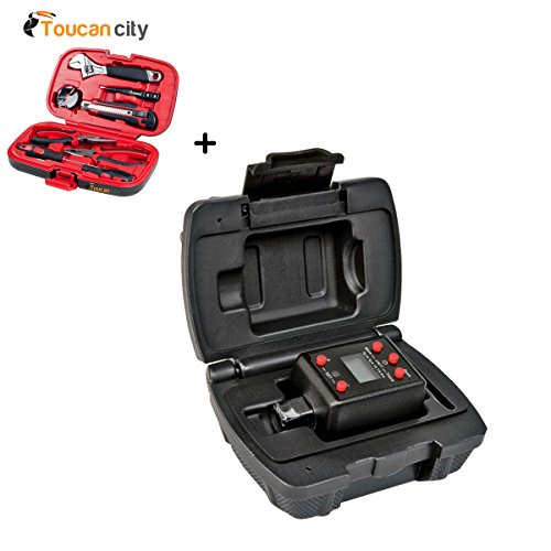 """Powerbuilt 1/2 in. Drive Digital Torque Adapter 940962 and Toucan City Tool kit (9 – piece) """