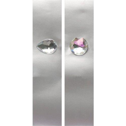 Glitz Jewel (8-Count Glitz Napkin Bands with Jewel Attachment, Silver)