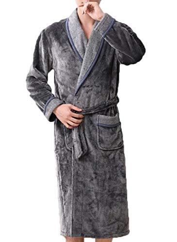 Cál Invierno E De Hombres Niñera Fashion Otoño Saoye Grey Franela Pijamas Ropa Engrosamiento qw0TPPH