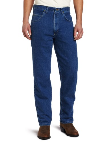 (Wrangler Men's Big Rugged Wear Stretch   Jean,Stonewashed,50x30)