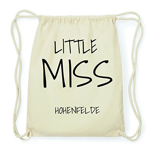 JOllify HOHENFELDE Hipster Turnbeutel Tasche Rucksack aus Baumwolle - Farbe: natur Design: Little Miss