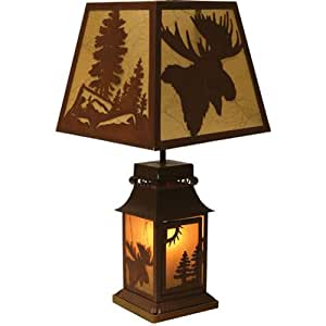 table lamps amazon rivers edge 20 inch moose table lamp sports 11653