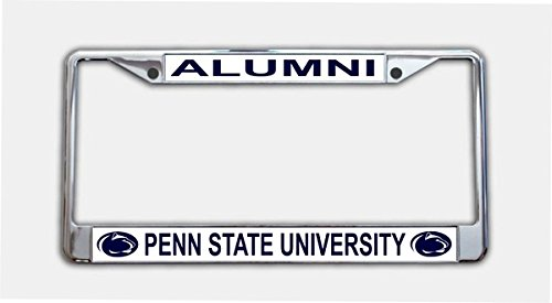 (Penn State University Alumni On White License Plate Frame)