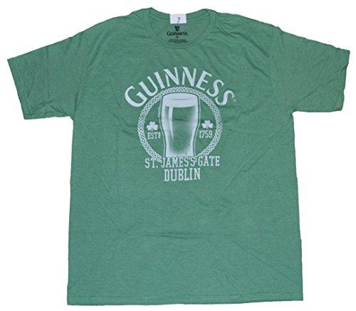 Men's Green T-shirt Guinness St. James's Gate Dublin - Green Guinness