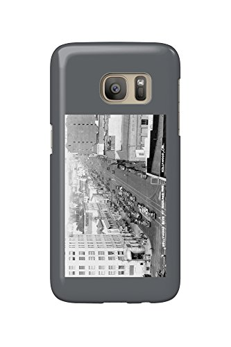Hollywood, California - Hollywood Blvd and Highland Ave Photograph (Galaxy S7 Cell Phone Case, Slim Barely - Blvd Hollywood California