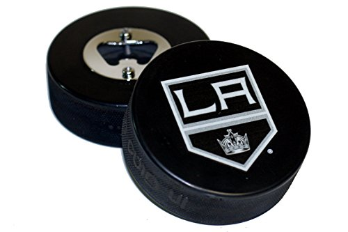 Los Angeles Kings Basic Logo Hockey NHL Puck Bottle Opener