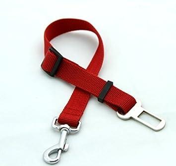 rojo Perro Cinturón de seguridad llevan arnés de sujeción: Amazon ...
