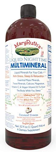 Old Liquid Sleep Multimineral (Coconut) Vegan Vitamins, Minerals, Magnesium, Calcium & MSM - Natural Sleep & Stress Aid - Muscle Relaxation - NO Melatonin - Non-GMO Paleo 0 Sugar 0 Fat by MaryRuth Organics