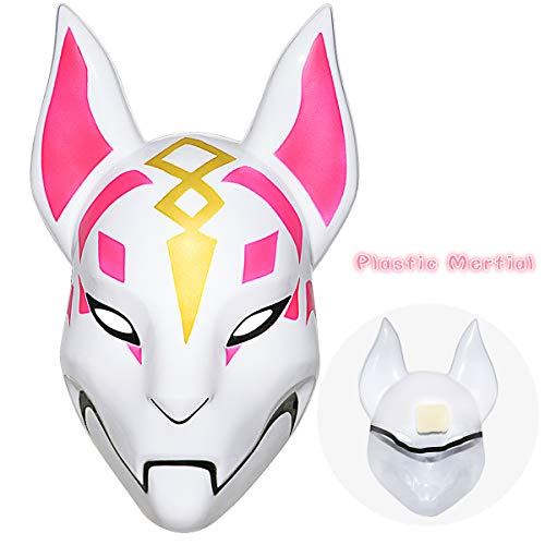 Fortnite Fox Mask Helmet Halloween mask Fortnite Costume Cosplay mask for Halloween, Party, Christmas(Plastic)