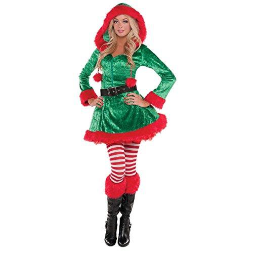 Green Sassy Elf Costume - Plus Size - Dress Size 18-20