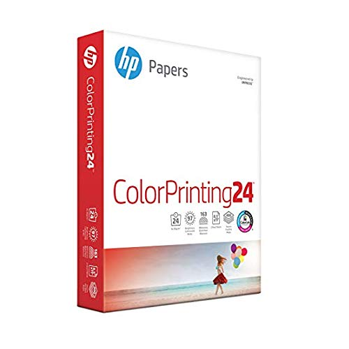 HP Printer Paper, Colorprinting24, 8.5 x 11 Paper, Letter Size, 24lb Paper, 97 Bright, 500 Sheets/ 1 Ream (202000R) Acid Free Paper
