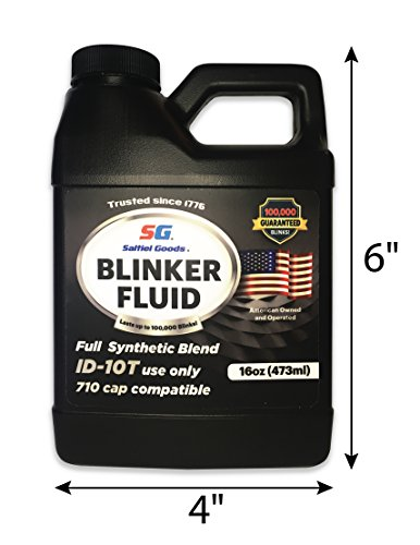 Blinker Fluid-REALISTIC VERSION-Hilarious Funny Gag Gift for Car Mechanic Fathers. Great for Secret Santa, White Elephant Parties, Christmas, April Fools, you name it! All in one 16 oz empty bottle!