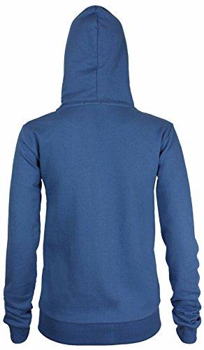 Purple Hanger - Sweat À Capuche Pour Femme Manches Longues Polaire Avec Glissière Neuf - 40, Bleu roi