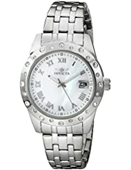 Invicta Womens 17487 Angel Analog Display Japanese Quartz Silver Watch