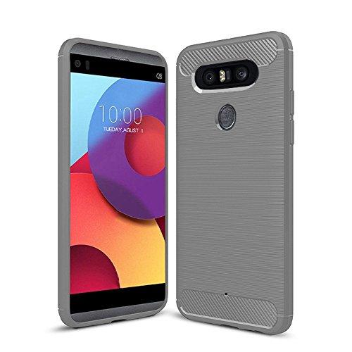 Funda LG X800,Funda Fibra de carbono Alta Calidad Anti-Rasguño y Resistente Huellas Dactilares Totalmente Protectora Caso de Cuero Cover Case Adecuado para el LG X800 B