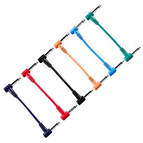 Neewer® 6 Stk. Pack Elektrische Gitarren-Pedal-Kabel Effekt-pedal Kabel