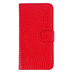 HP Stylish Crocodile Print Pattern Protective Case for iPhone 5C (Red)