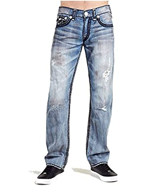 Men's Straight Leg Relaxed Fit Super QT w/ Flap Jeans in Burning Midnight