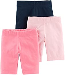 Baby and Toddler Girls 3-Pack Bike Shorts