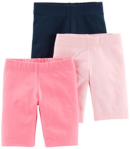 Simple Joys by Carter's Toddler Girls' 3-Pack Bike Shorts, Pink, Navy, 2T ()