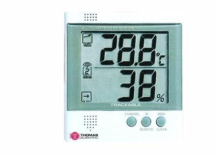 Thomas Estación de trabajo traceable radio-signal mando a distancia medidor de humedad/termómetro