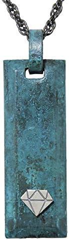 真鍮 銅器着色技法仕上げ 倭青銅 ペンダントネックレス メンズ