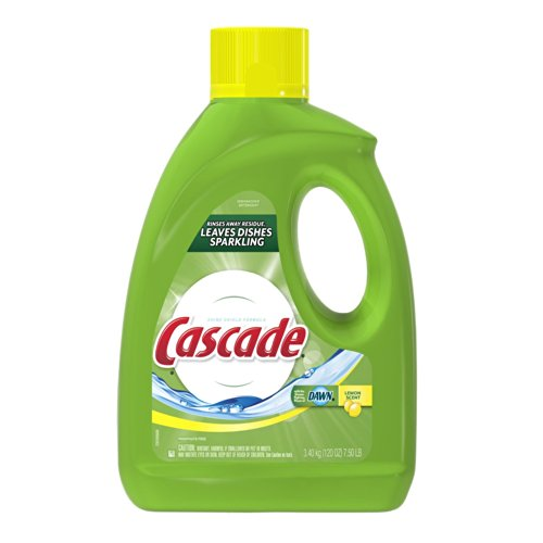 Cascade Gel Dishwasher Detergent, Lemon Scent, 120-Ounce