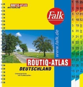 Falk Routiq-Atlas Deutschland 1:750 000 Ortsverzeichnis mit Postleitzahlen