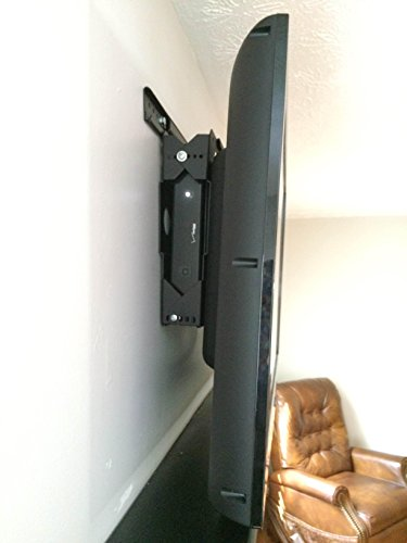 Innovative Americans 56'' to 85'' TV Mount with Cable DVR Satellite Box Indoor Outdoor TV Wall Mount Kit VESA 200 x 200mm to 600 x 800mm, Tilt, For DVR Cable Box or CPU measuring up to 25'' x 18'' x 3.25'' by Innovative Americans