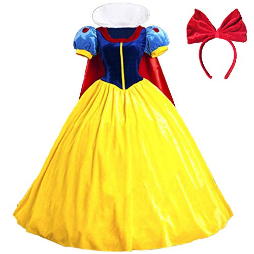KUFV Classic Deluxe Princess Costume Adult Queen Fairytale Dress Role Cosplay -