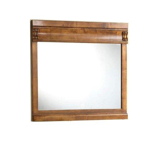 Pegasus 30 in. H x 32 in. W Framed Wall Mirror in Oak
