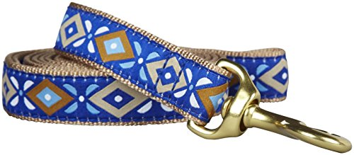 """Up Country Dog Lead - Aztec Blue - 1"""" x 6'"""