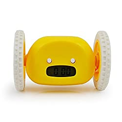 Yellow Clocky Runaway Alarm Clock Running Clocky on Wheels Creative Gift for Heavy Sleepers