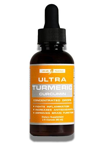 Organic Turmeric Curcumin Drops with Bioperine black pepper fruit extract