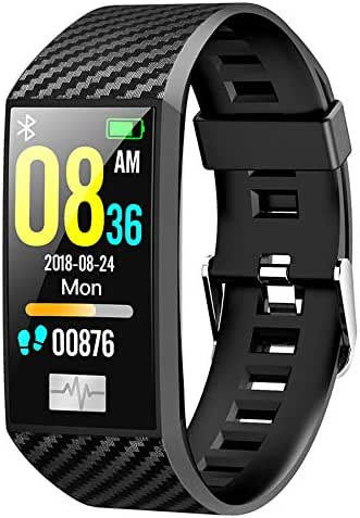 RONSHIN Smart-Watches Smart Bracelet Band Heart Rate Monitor ECG Blood Pressure IP68 Fitness Tracker Wrisatband Smart Watch Black,for Birthday Gifts