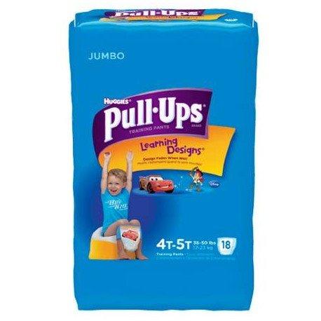 DIAPER PULL-UP BOY 4T-5T 18/PK 4PK/CS KIMBERLY - PK/18 by Kimberly Clark