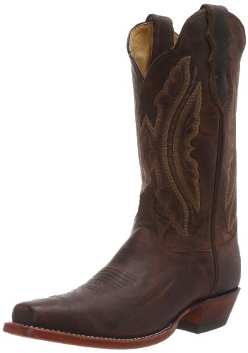 Image of Justin Boots Men's Classic Western, Tan Distressed Vintage Goat, 7.5 D US