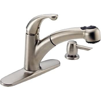 Nice Delta 467 SSSD DST Palo Single Handle Pull Out Kitchen Faucet With Soap