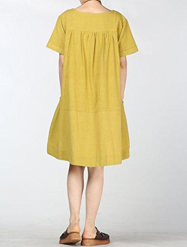 Vogstyle - Camiseta - Una manga - para mujer amarillo