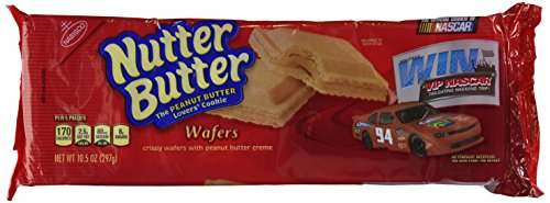 NUTTER BUTTER COOKIE PATTIES PEANUT BUTTER CREME WAFERS 10.5 OZ ()