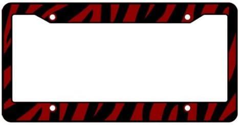 New 2pcs Pink Black Zebra Print Car Truck Suv License Plate Frames Made in USA
