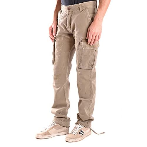 dc22cff23b DANIELE ALESSANDRINI MEN'S MCBI086373O GREEN COTTON PANTS good ...