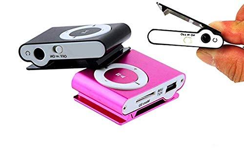 MP3 Player Kids Mini Clip Support 32GB Micro SD TF Purple