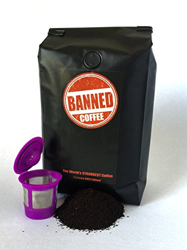 Banned Coffee | Keurig K-Cup 80 counts (servings) Ground | The World's Strongest Coffee | Super Strong Caffeine Content | Our Best Flavor Medium Dark Roast - 2 lb K cup