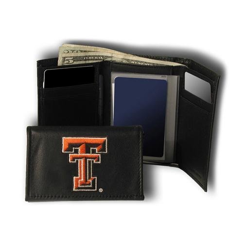 Red Raiders Embroidered Tri Fold - Texas Tech Red Raiders NCAA Embroidered Tri-fold Wallet