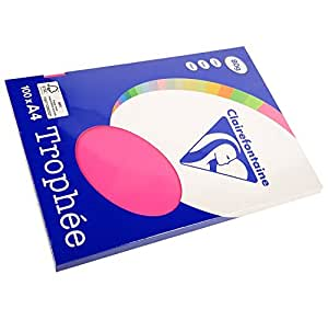 Clairefontaine 4121de papel A4color fucsia 100Blatt 80g/m2para impresora de inyección, láser