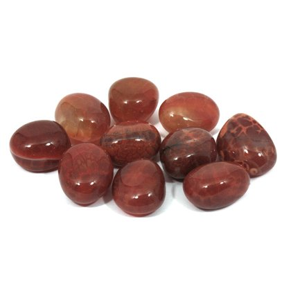 Fire Agate Tumble Stone (20-25mm) - Single Stone by CrystalAge