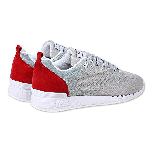 Djinns, Sneaker uomo grigio Easy Run Yawn | Grey/Red Grey