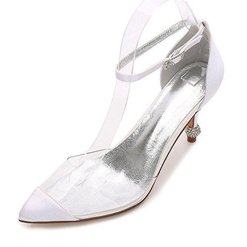 boucle bottines de à mariage hauts chaussures femmes cour talons Zxstz blanc de pq878