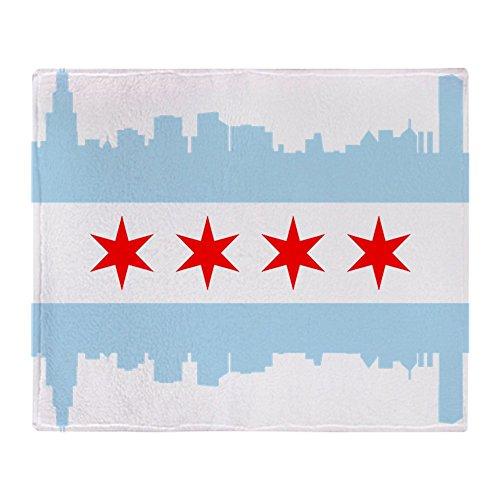 CafePress - Chicago Flag Skyline - Soft Fleece Throw Blanket, 50